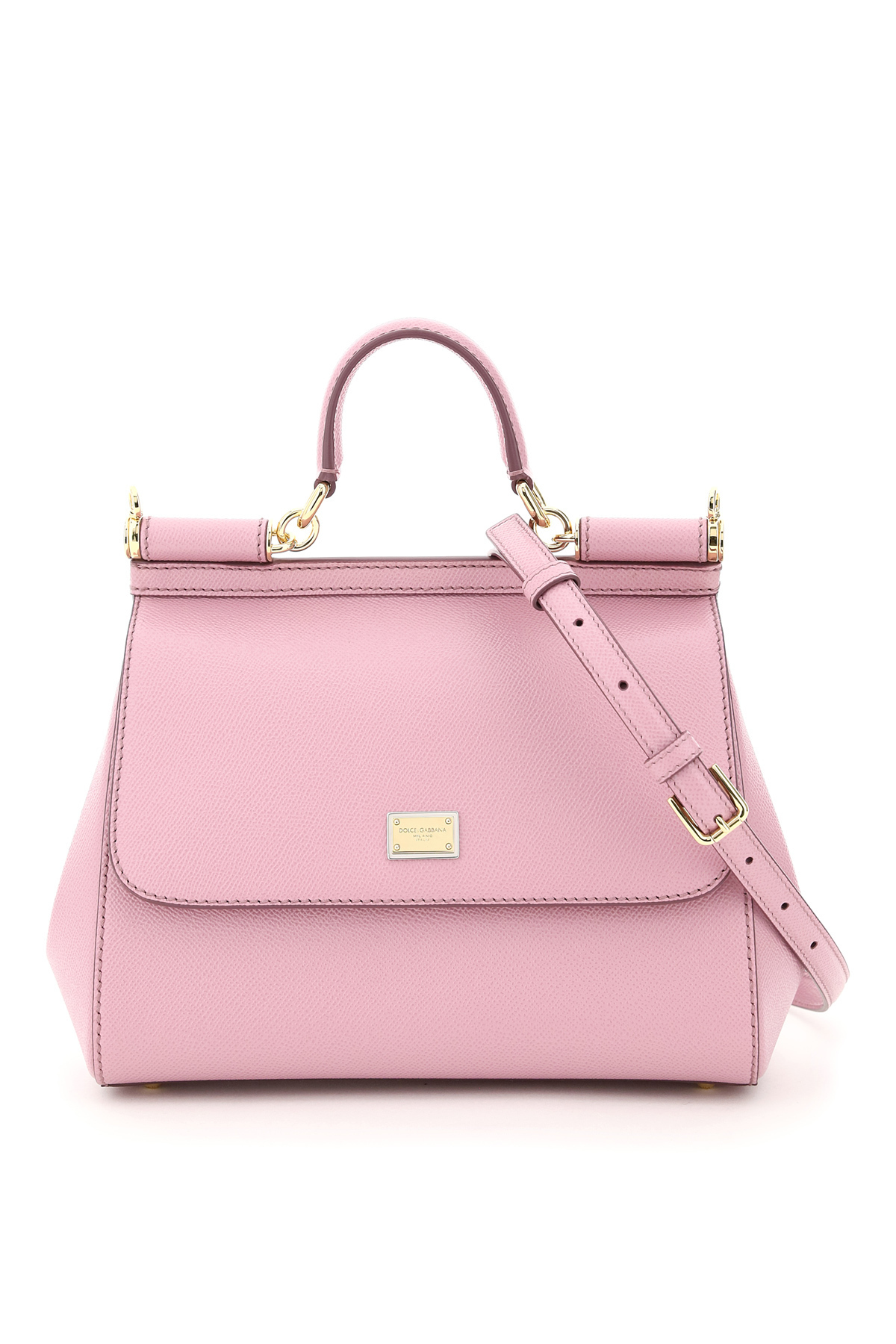 Dolce & Gabbana Medium Sicily Bag Os Pink Leather