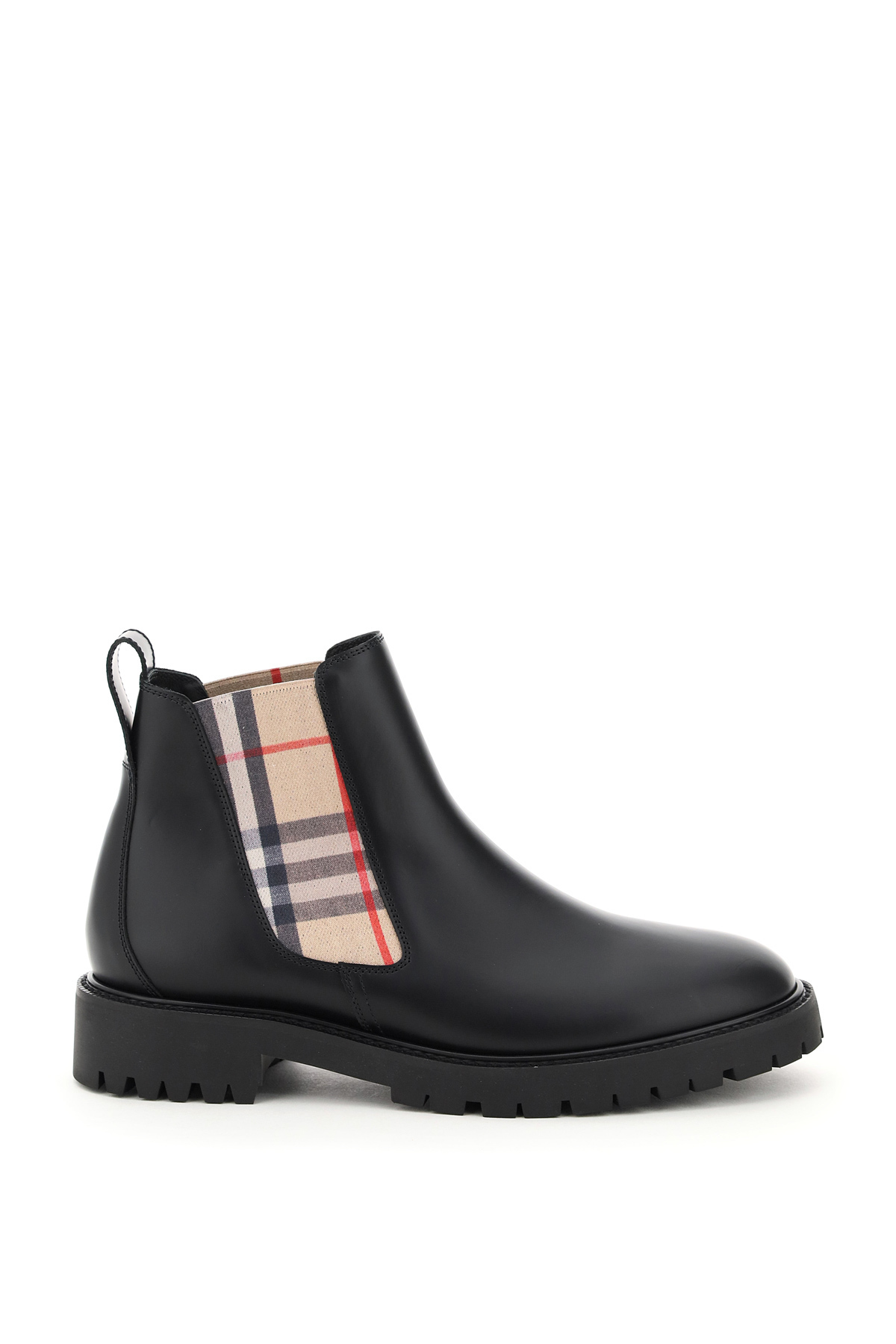 Burberry Allostock Chelsea Boots 36 Black Technical, Leather