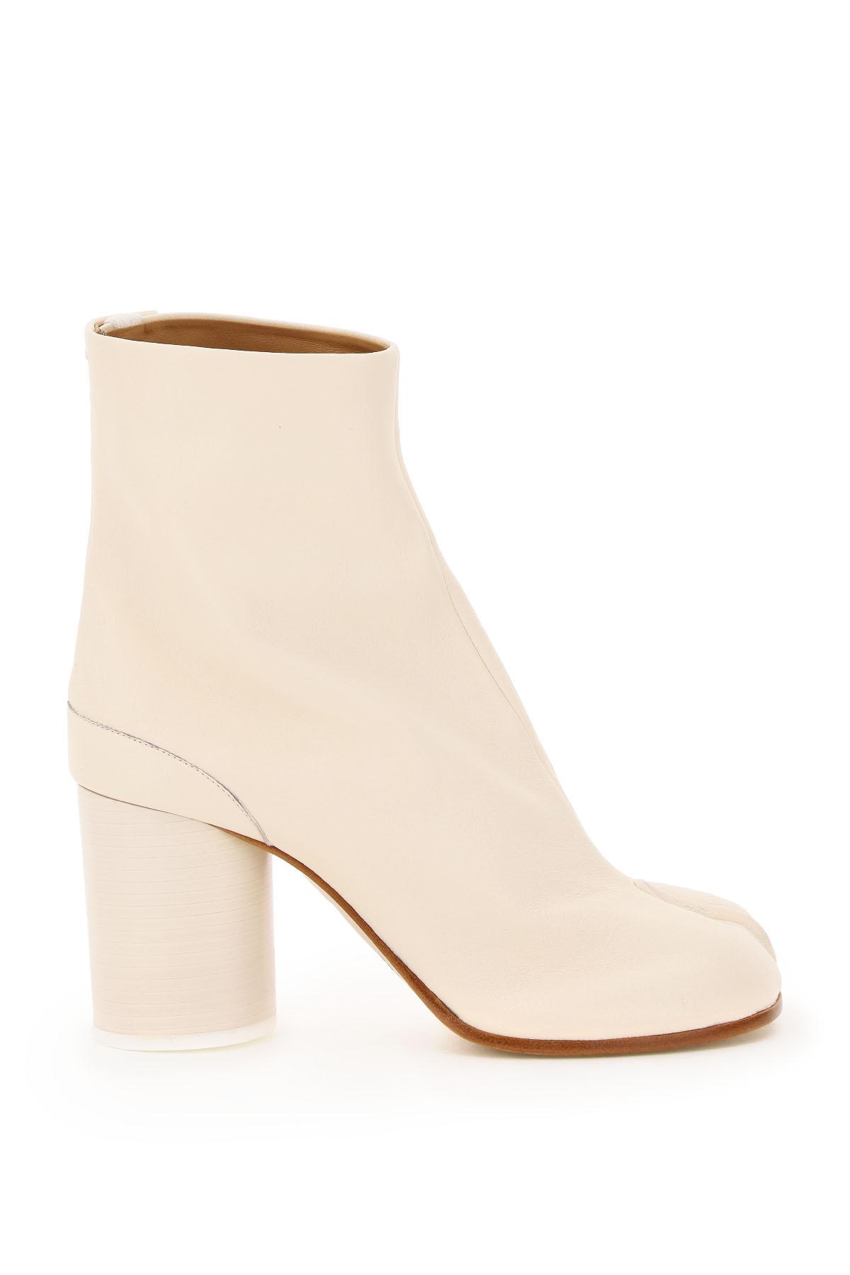 Maison Margiela Tabi Leather Boots 36 White Leather