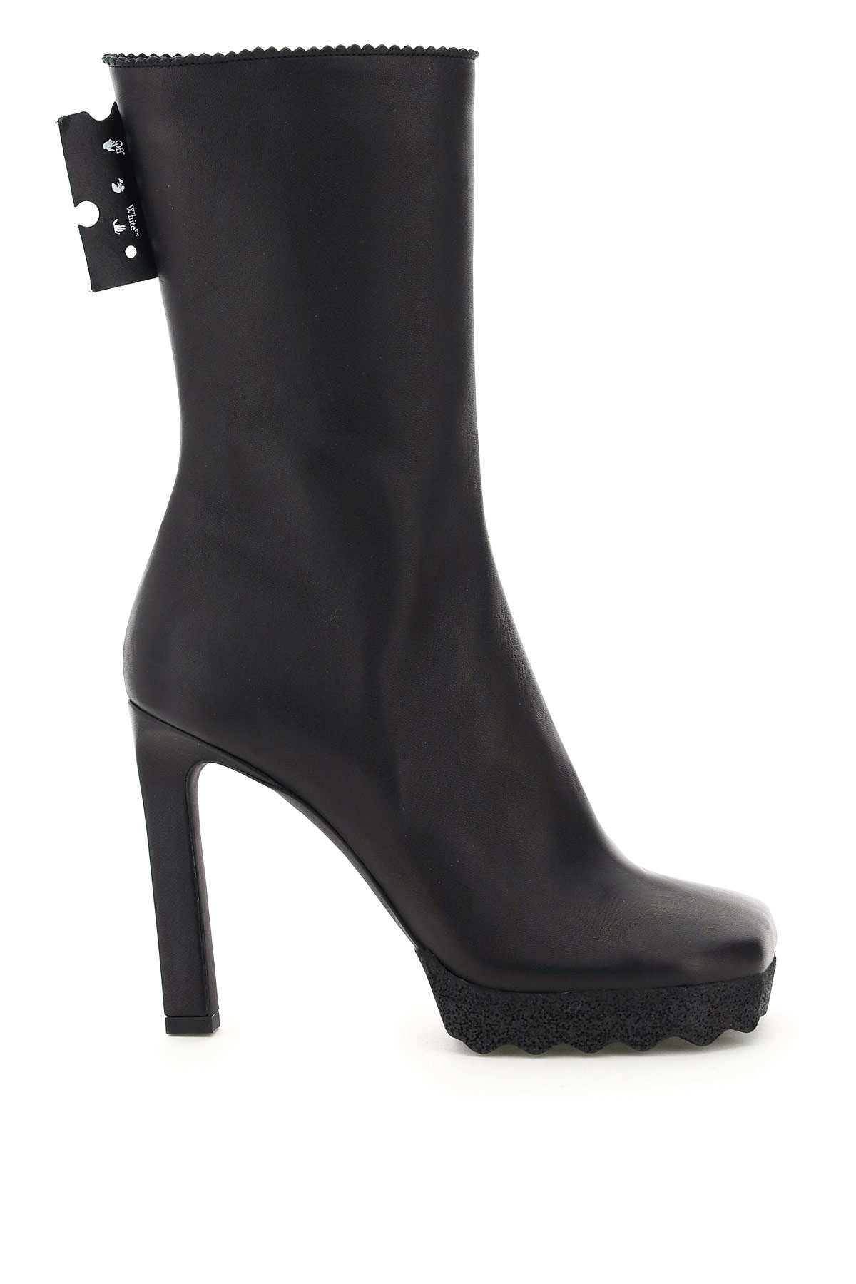 Off-White Nappa Boots 36 Black Leather
