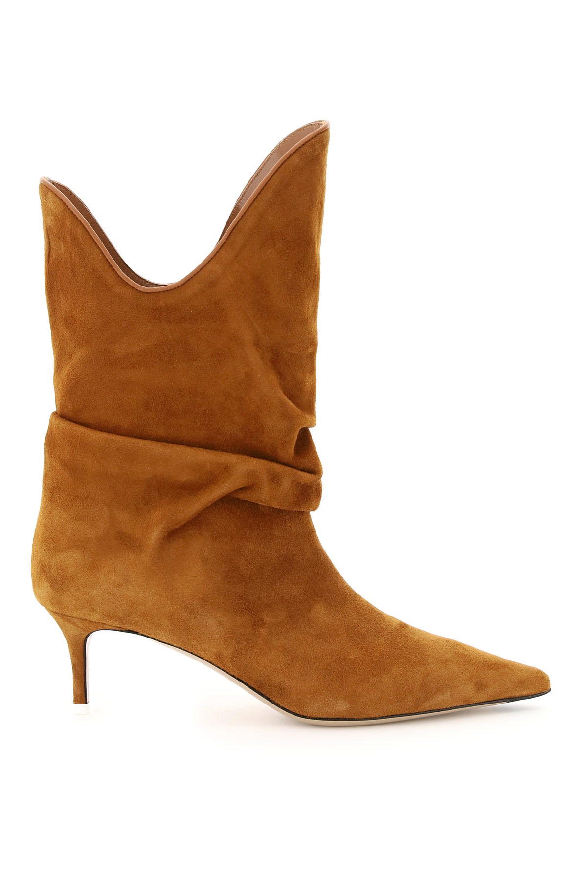 The Attico Suede Ankle Boots 38 Brown Leather
