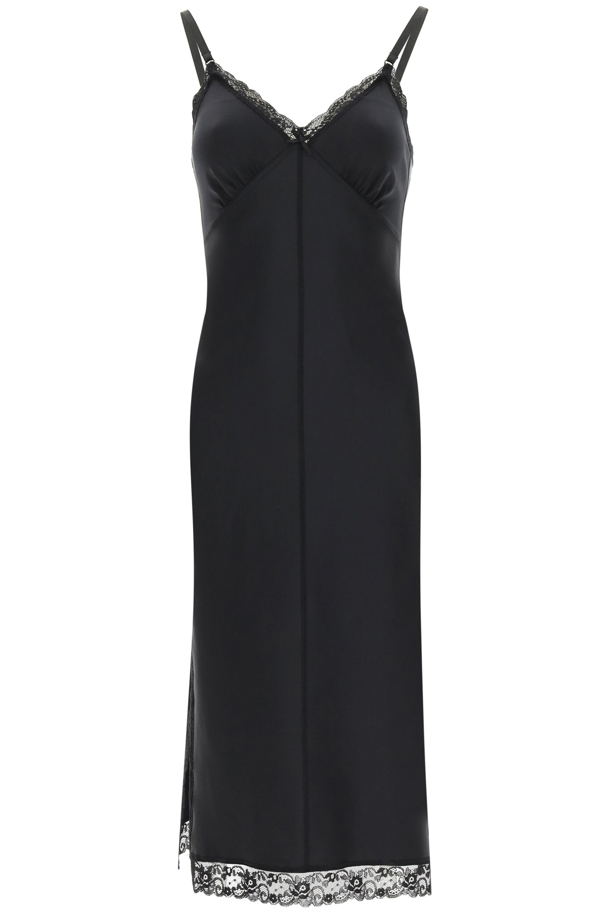 Alexander Wang SLIP DRESS WITH LACE