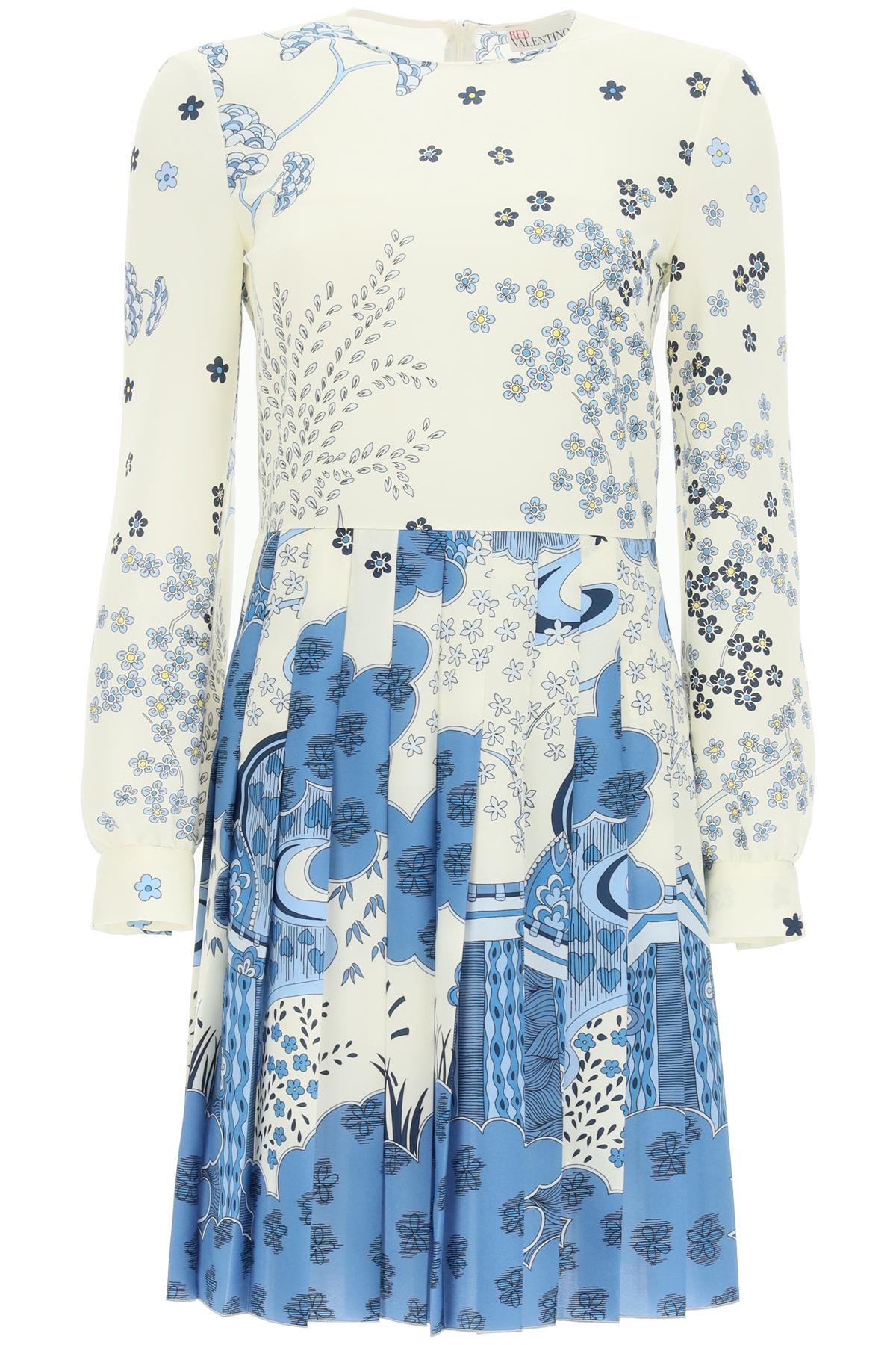Red Valentino Clothing ORIENTAL TOILE DE JOUY PRINT SHORT DRESS