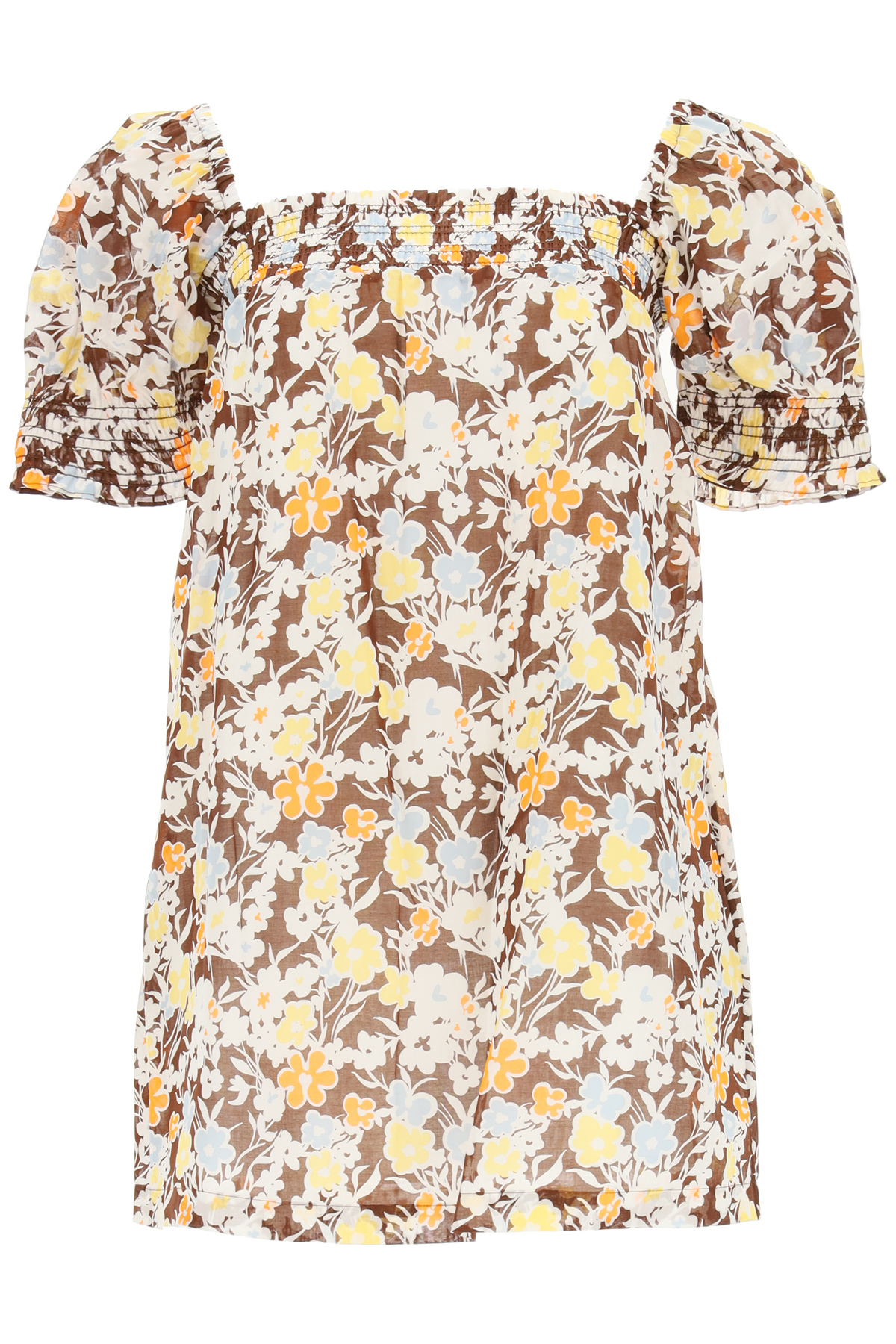 Tory Burch Cottons FLORAL COTTON MINI DRESS