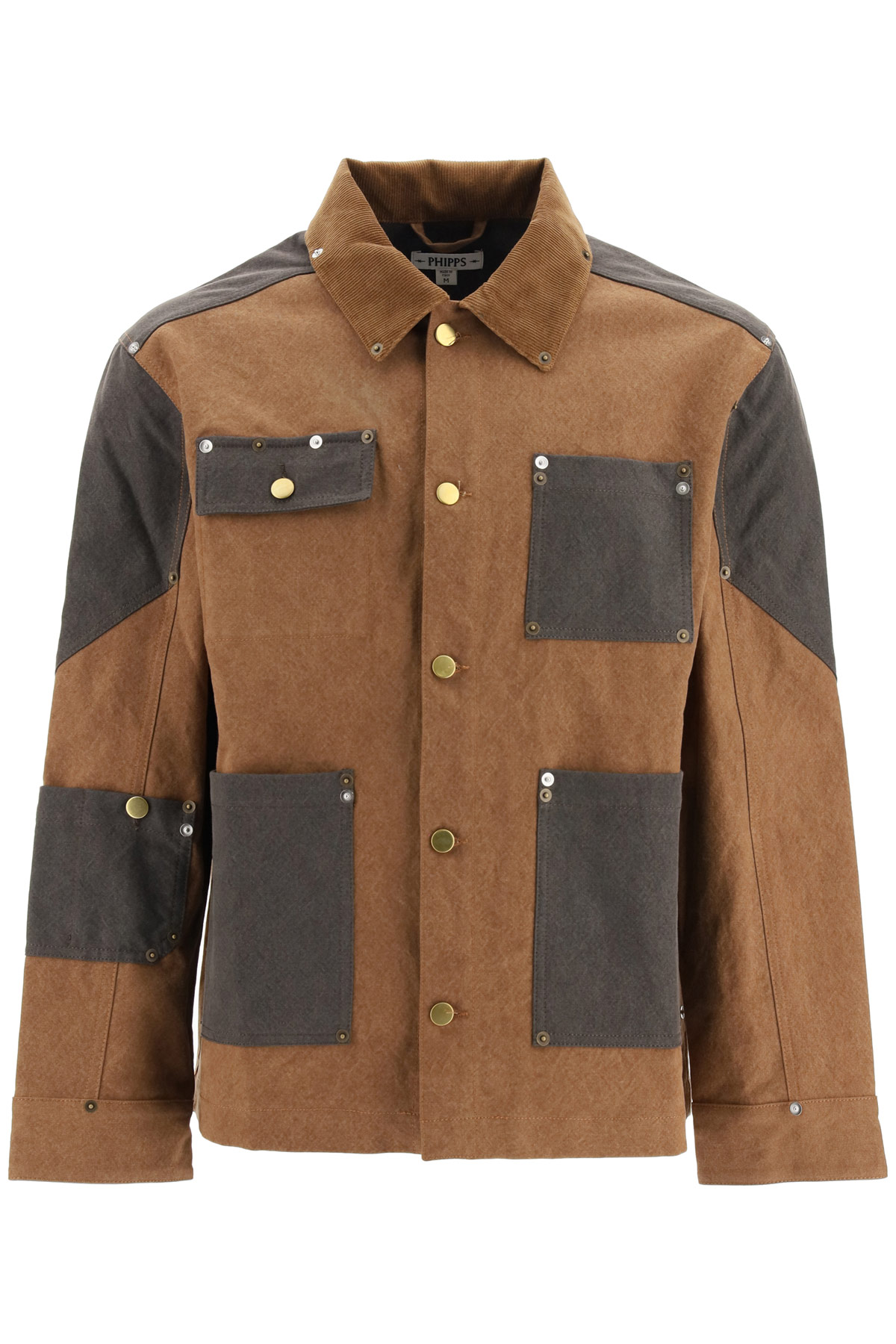 PHIPPS WORKWEAR JACKET L Brown, Grey Cotton