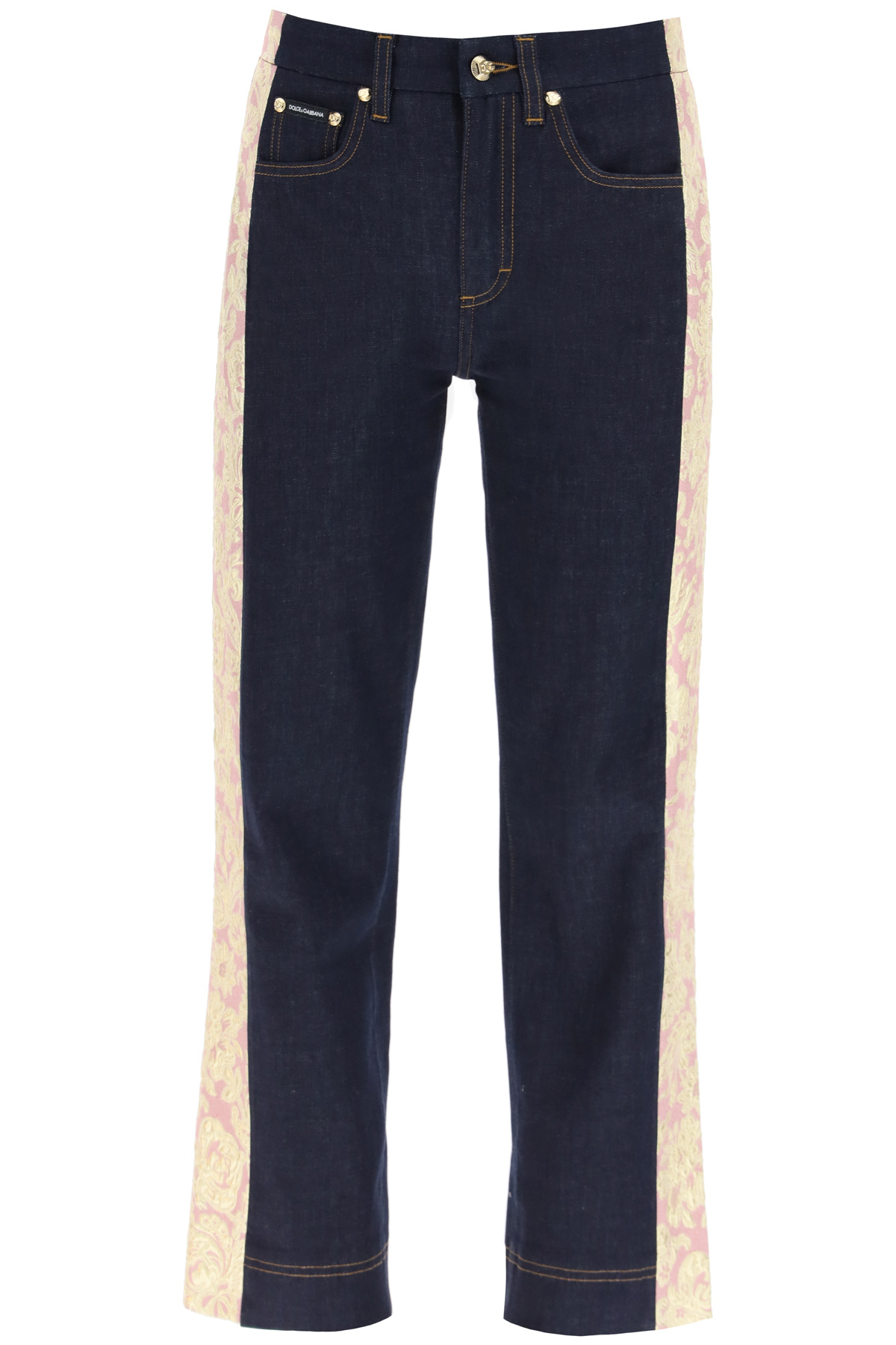 Dolce & Gabbana JEANS WITH BROCADE BANDS