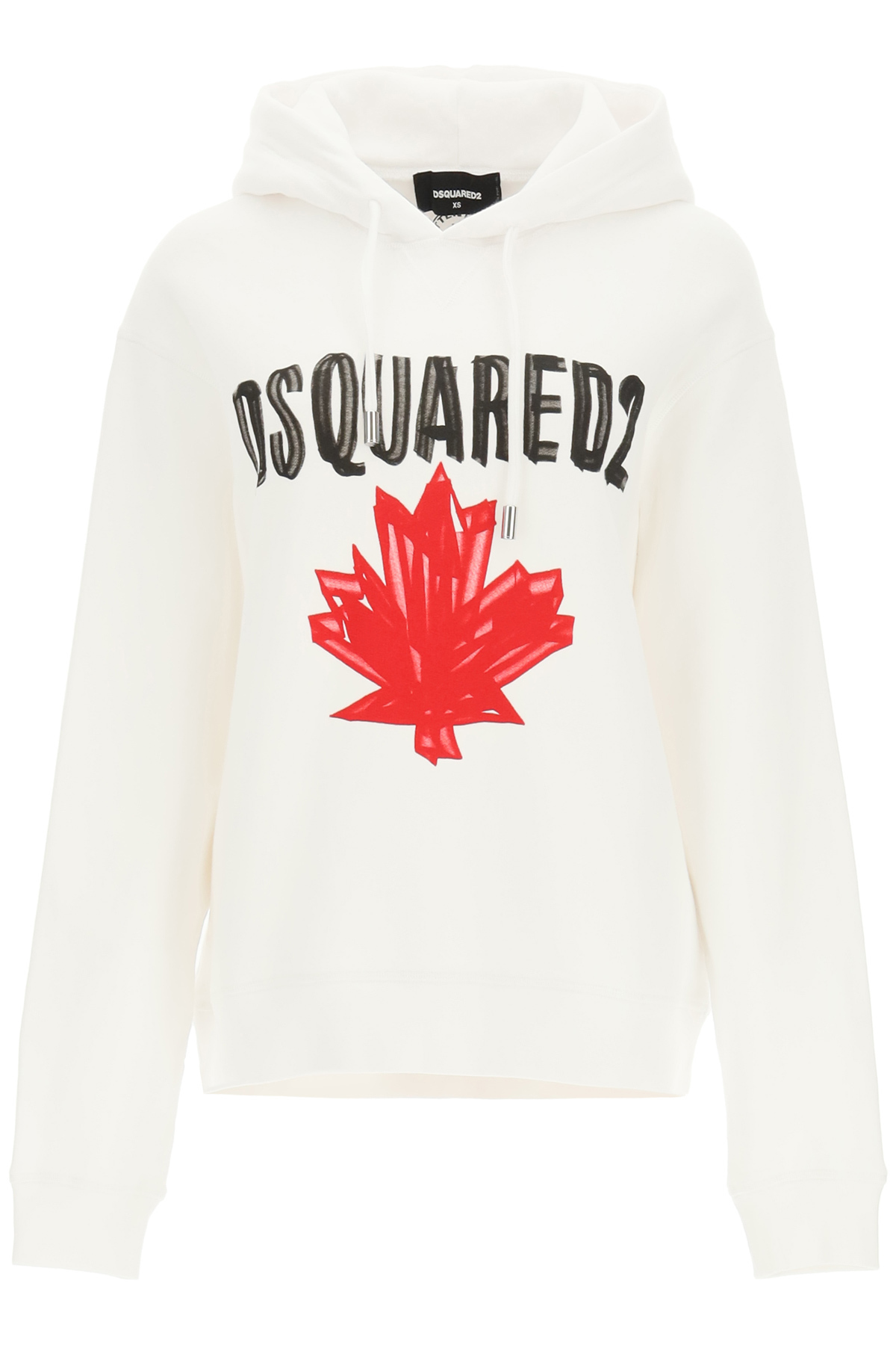 DSQUARED2 HOODIE WITH LOGO XS White, Red, Black Cotton