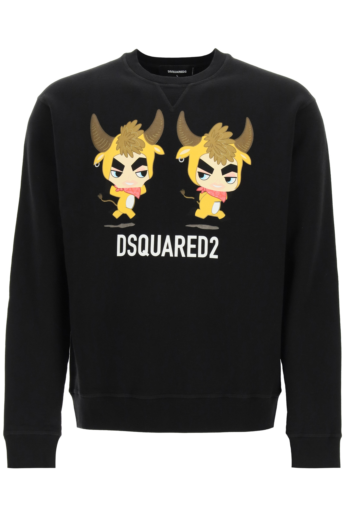 Dsquared2 Clothing CREWNECK SWEATSHIRT WITH YEAR OF THE OX PRINT
