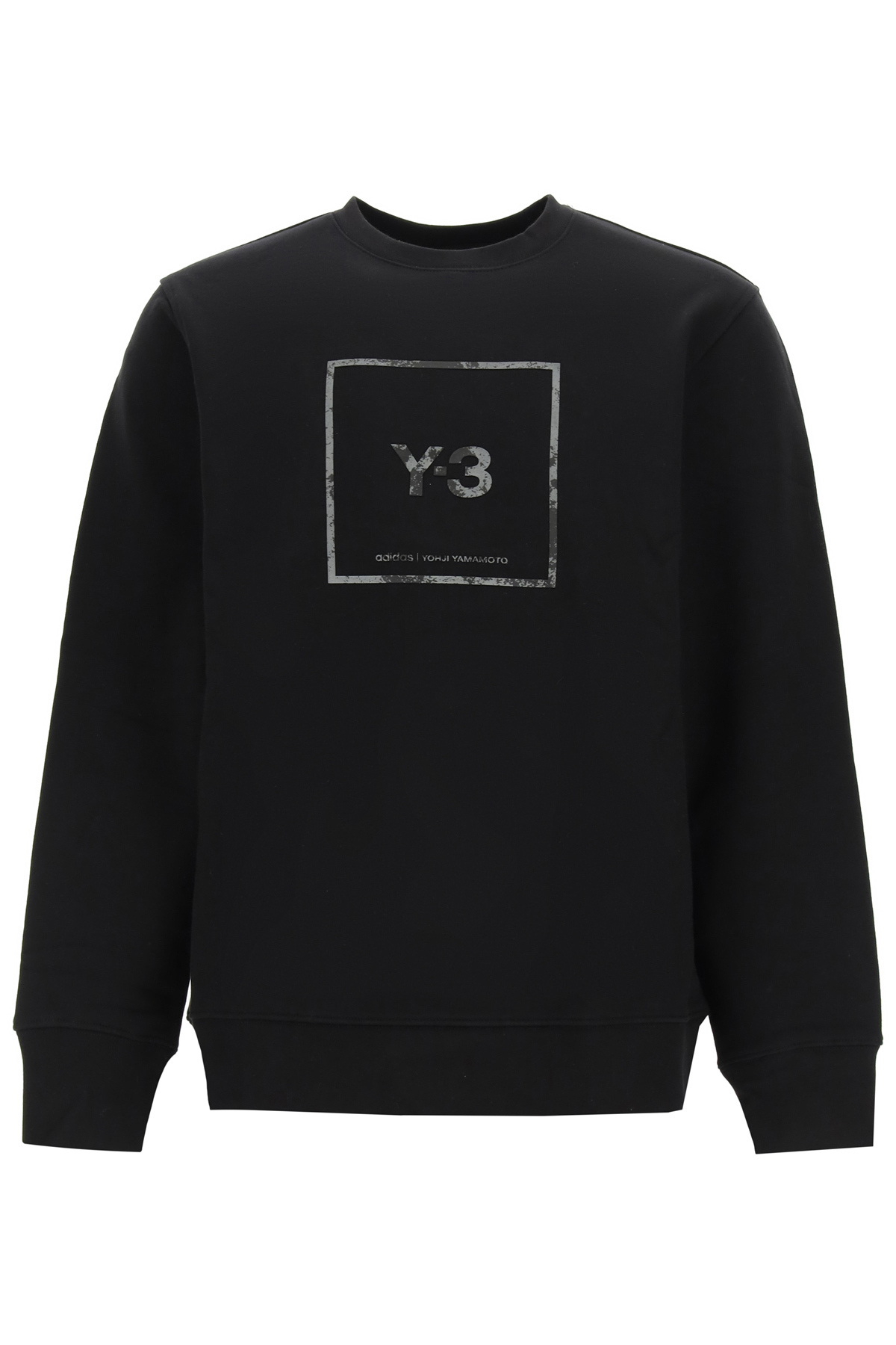 Y-3 U SQUARE LABEL CREWNECK SWEATSHIRT