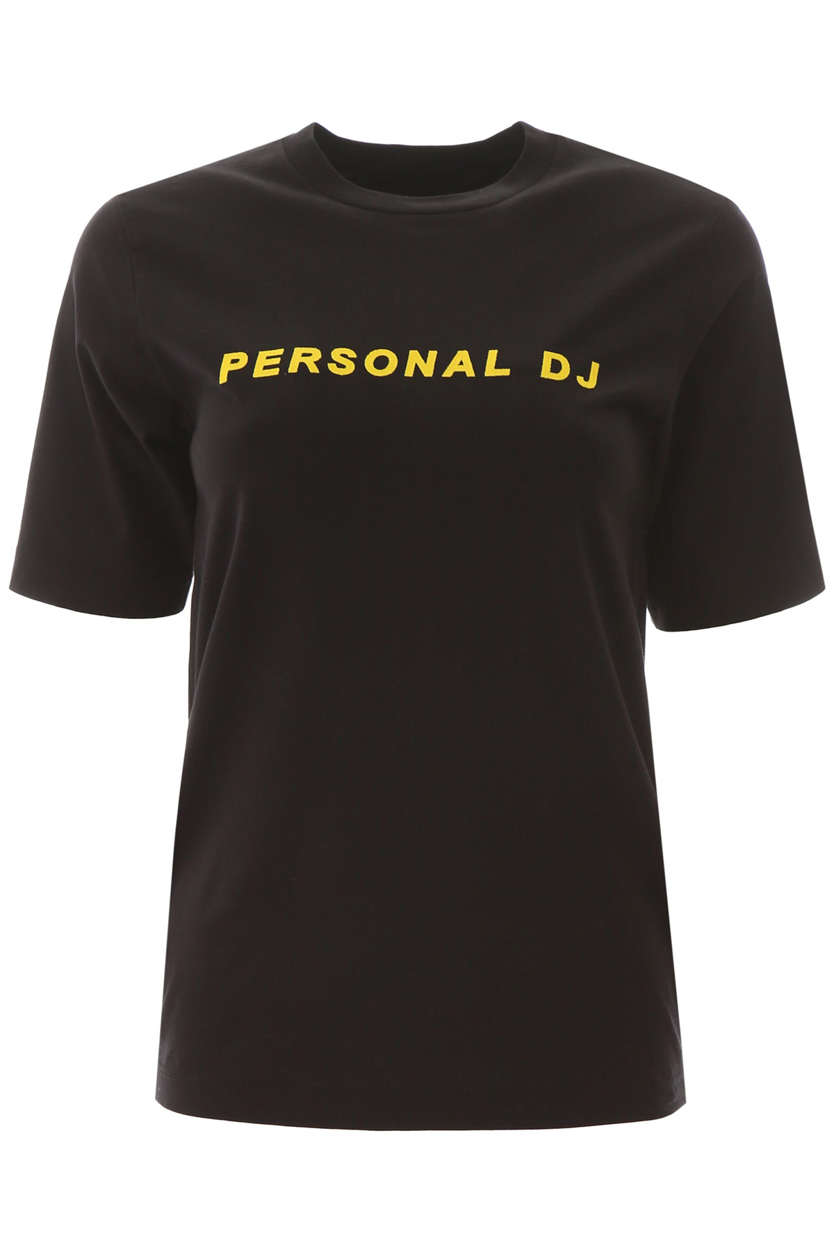 KIRIN PERSONAL DJ T-SHIRT S Black, Yellow Cotton