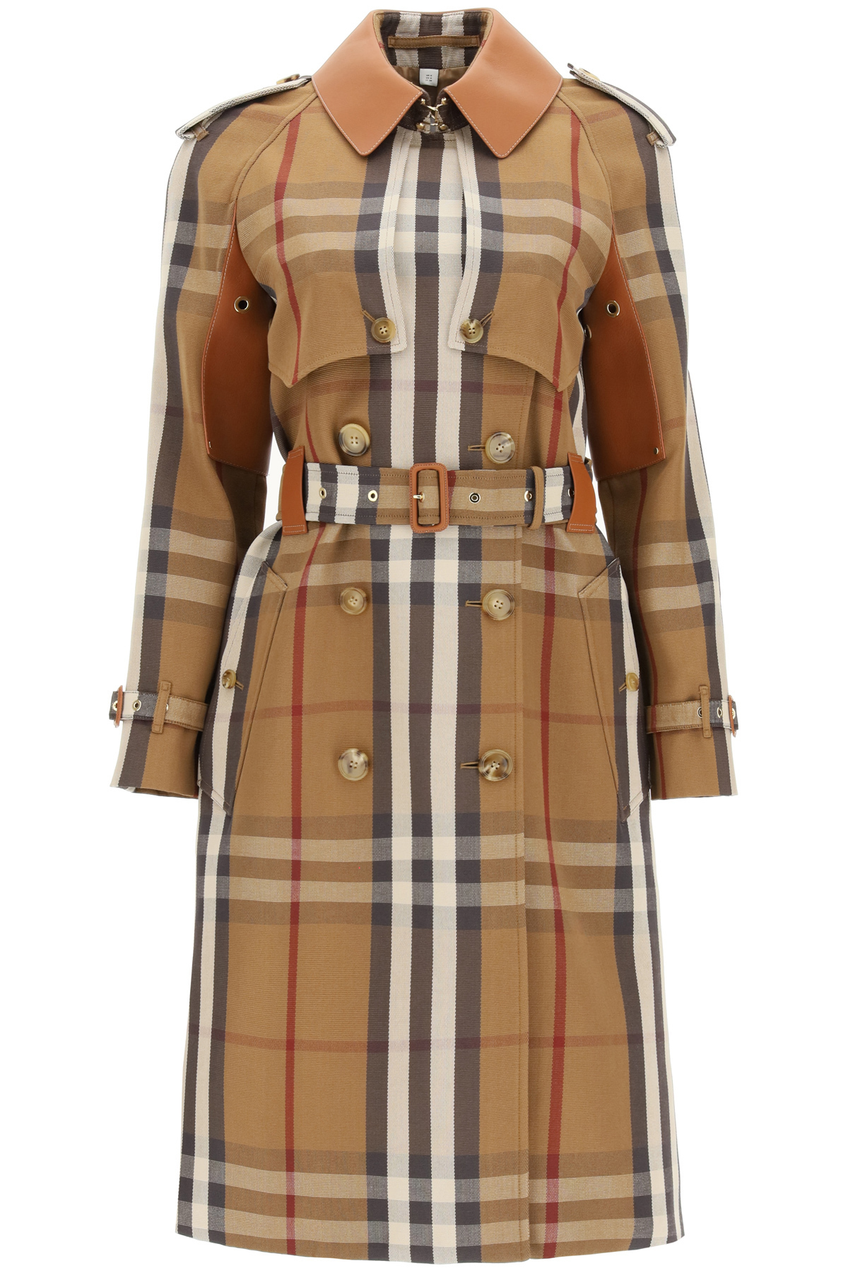Burberry RAINHAM TRENCH COAT WITH LEATHER DETAILS