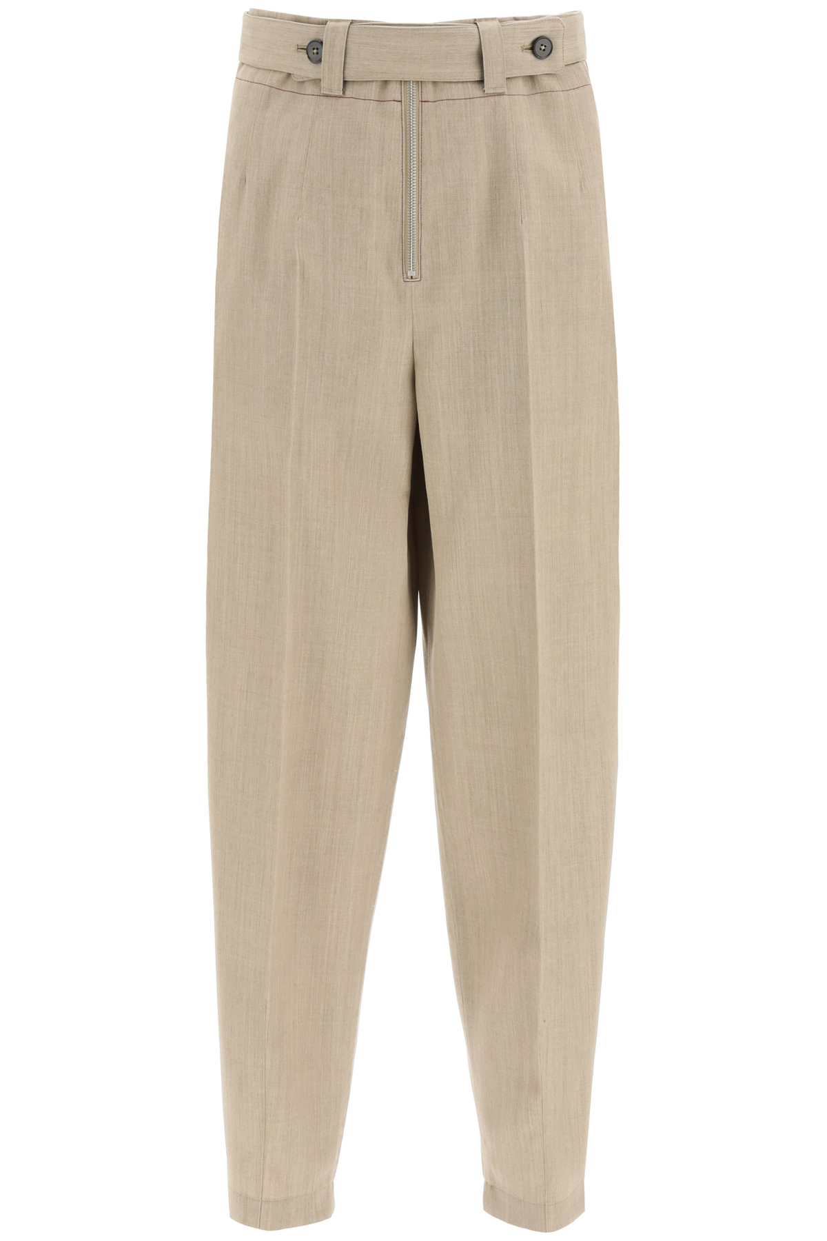 Jil Sander WOOL GRISAILLE TROUSERS