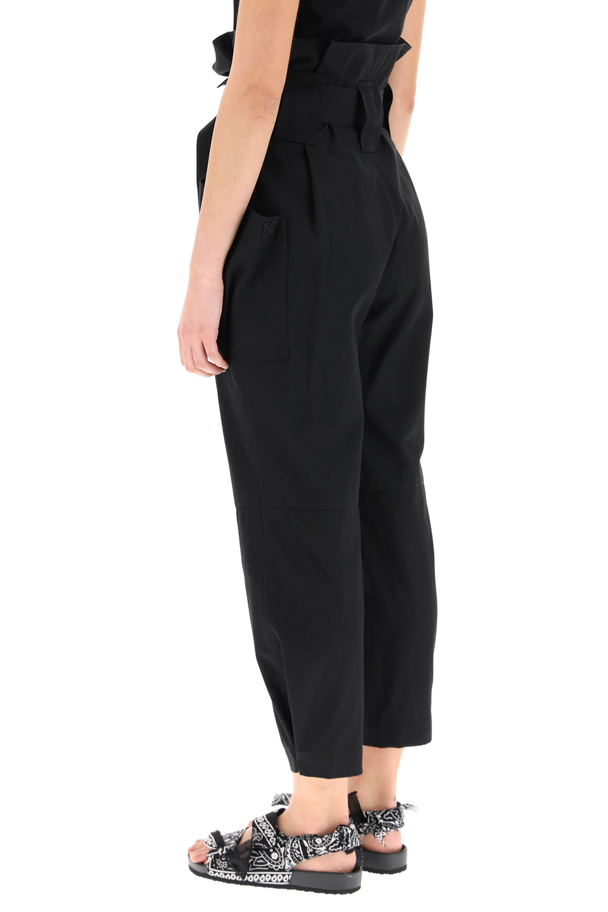 KENZO Cottons PAPER BAG TROUSERS