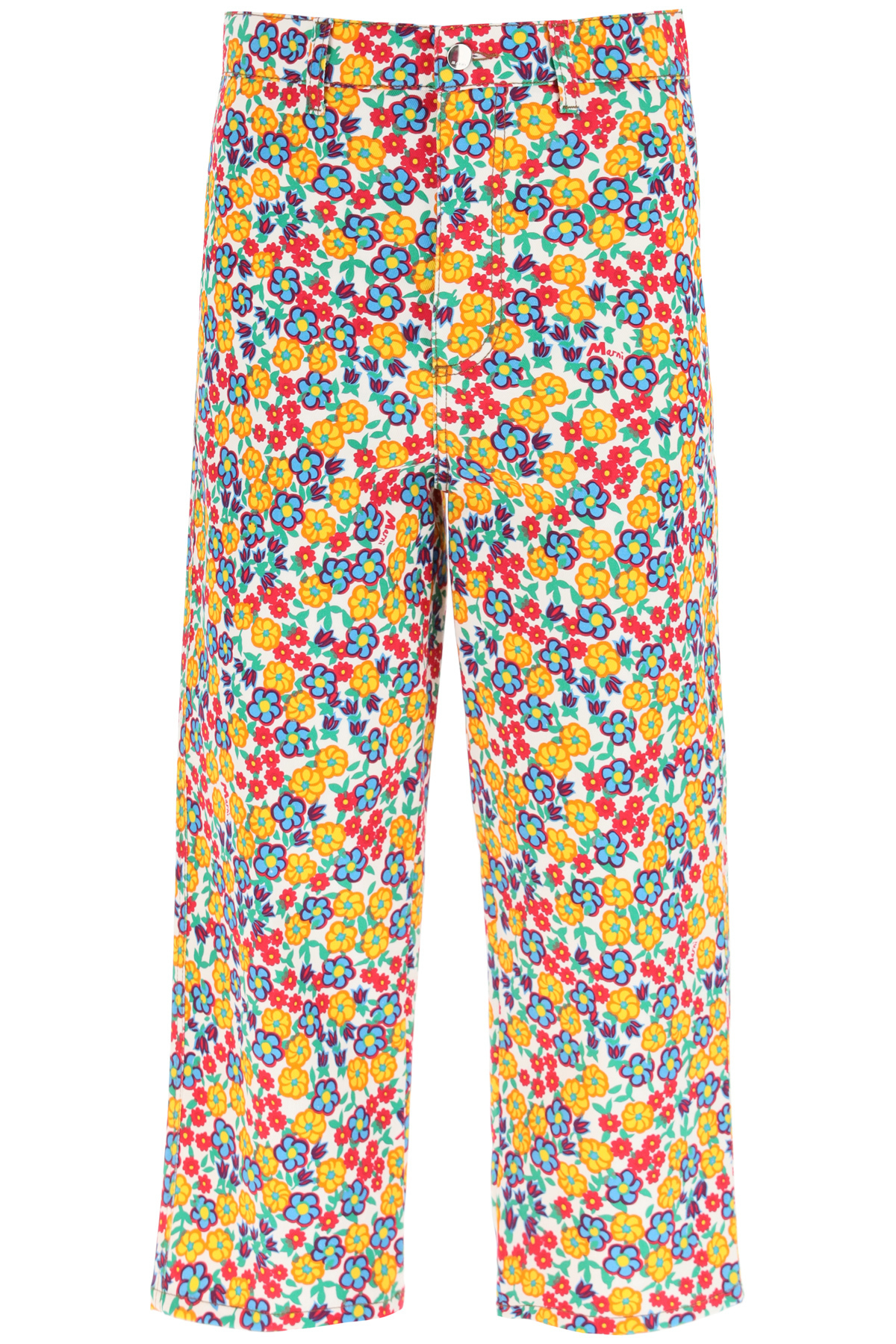 Marni Denims OVER TROUSERS WITH POP GARDEN PRINT