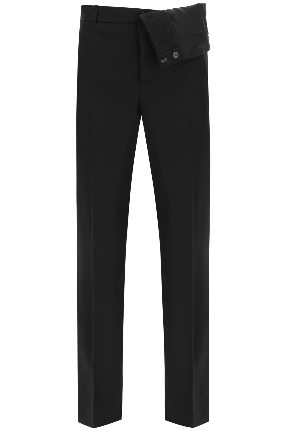 Y/project Pants TROUSERS WITH ASYMMETRIC WAIST